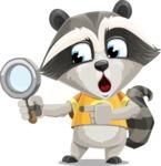 Baby Raccoon Cartoon Vector Character AKA Roony - Search