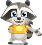Baby Raccoon Cartoon Vector Character AKA Roony - Show