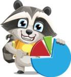 Baby Raccoon Cartoon Vector Character AKA Roony - Chart