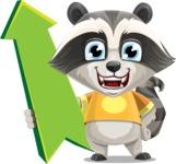 Baby Raccoon Cartoon Vector Character AKA Roony - Pointer 1