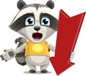 Baby Raccoon Cartoon Vector Character AKA Roony - Pointer 3