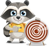 Baby Raccoon Cartoon Vector Character AKA Roony - Target