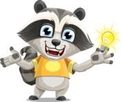 Baby Raccoon Cartoon Vector Character AKA Roony - Idea 1