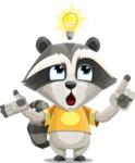 Baby Raccoon Cartoon Vector Character AKA Roony - Idea 2