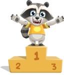 Baby Raccoon Cartoon Vector Character AKA Roony - On Top