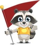 Baby Raccoon Cartoon Vector Character AKA Roony - Checkpoint