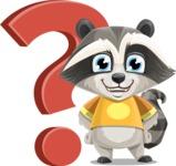 Baby Raccoon Cartoon Vector Character AKA Roony - Question