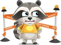 Baby Raccoon Cartoon Vector Character AKA Roony - Under Construction 2