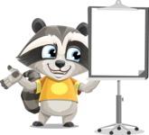Baby Raccoon Cartoon Vector Character AKA Roony - Presentation 1