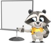 Baby Raccoon Cartoon Vector Character AKA Roony - Presentation 2