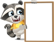 Baby Raccoon Cartoon Vector Character AKA Roony - Presentation 4