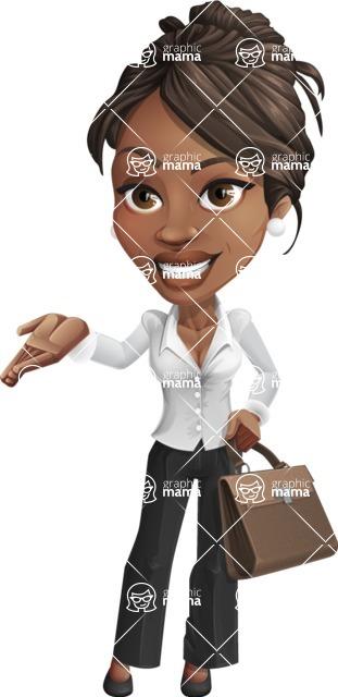 Chloe as Miss Profit - Briefcase2