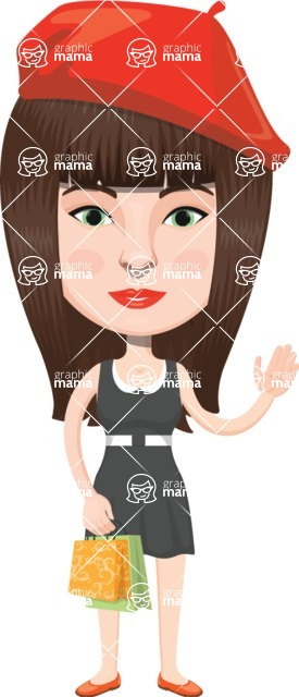 European People Vector Cartoon Graphics Maker - European Woman 10