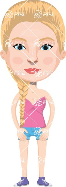 European People Vector Cartoon Graphics Maker - European Woman 13