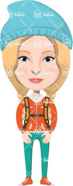 European People Vector Cartoon Graphics Maker - European Woman 17