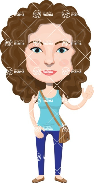 European People Vector Cartoon Graphics Maker - European Woman 18