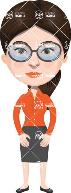European People Vector Cartoon Graphics Maker - European Woman 20