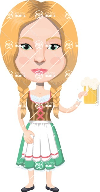 European People Vector Cartoon Graphics Maker - European Woman 22