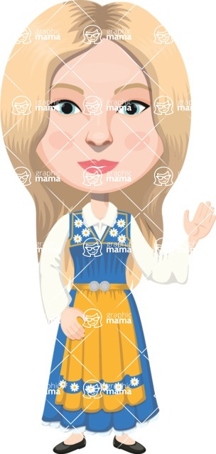 European People Vector Cartoon Graphics Maker - European Woman 24