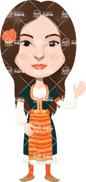 European People Vector Cartoon Graphics Maker - European Woman 29