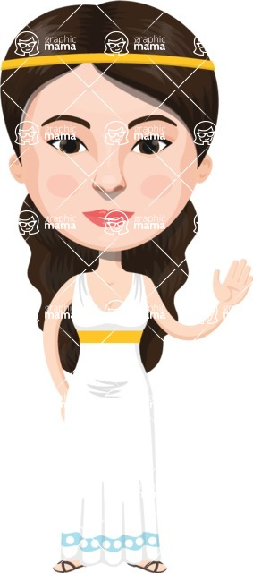 European People Vector Cartoon Graphics Maker - European Woman 30