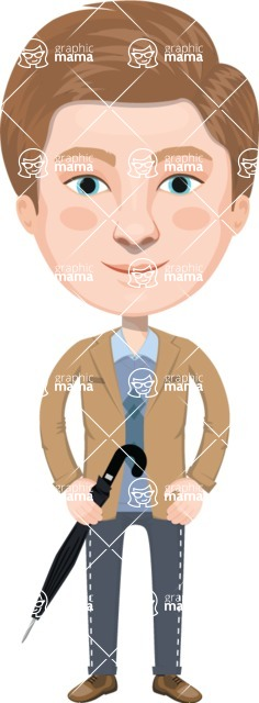 European People Vector Cartoon Graphics Maker - European Man 3