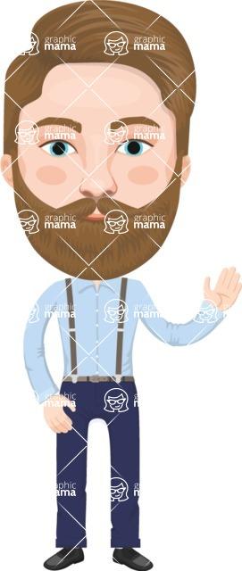 European People Vector Cartoon Graphics Maker - European Man 5