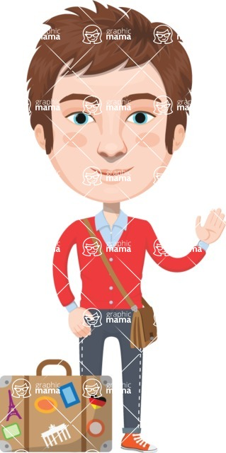European People Vector Cartoon Graphics Maker - European Man 7