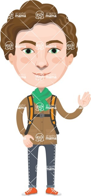 European People Vector Cartoon Graphics Maker - European Man 8