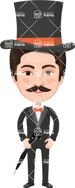 European People Vector Cartoon Graphics Maker - European Man 10
