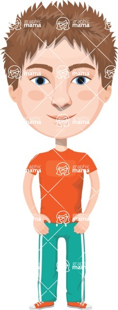 European People Vector Cartoon Graphics Maker - European Man 11