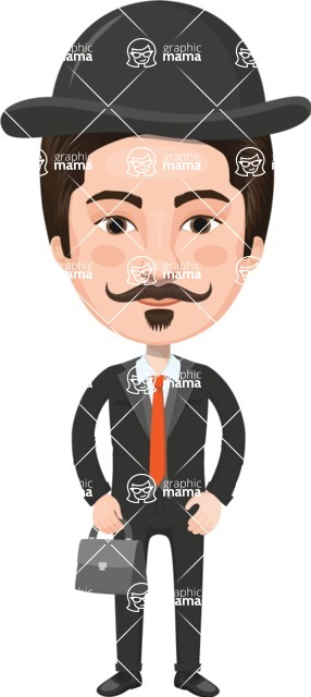 European People Vector Cartoon Graphics Maker - European Man 12
