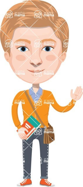 European People Vector Cartoon Graphics Maker - European Man 13