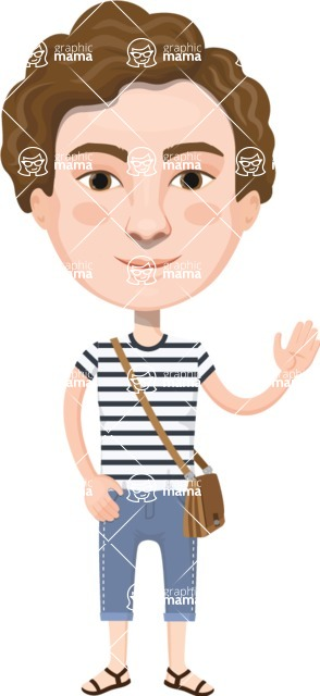 European People Vector Cartoon Graphics Maker - European Man 16