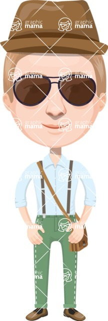 European People Vector Cartoon Graphics Maker - European Man 18