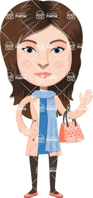 European People Vector Cartoon Graphics Maker - European Woman 5