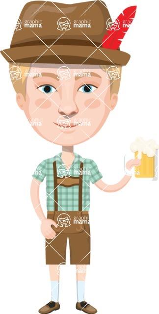 European People Vector Cartoon Graphics Maker - European Man 23
