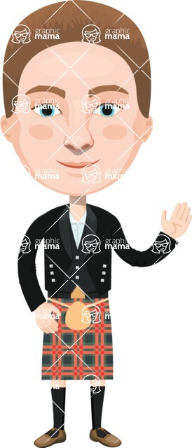 European People Vector Cartoon Graphics Maker - European Man 25