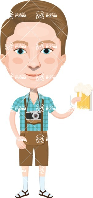 European People Vector Cartoon Graphics Maker - European Man 27