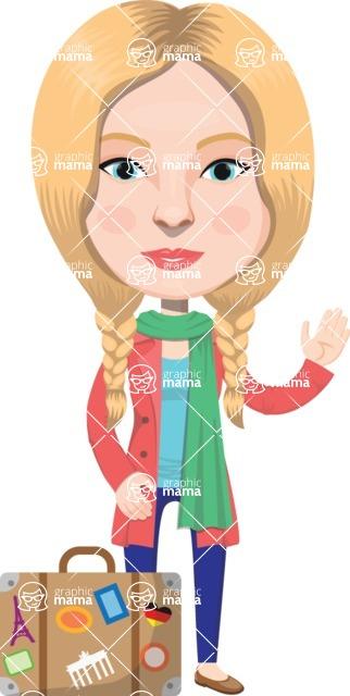 European People Vector Cartoon Graphics Maker - European Woman 8