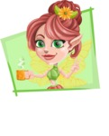 Cute Fairy Vector Cartoon Character AKA Frida the Flower Fairy - Shape 3