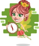 Cute Fairy Vector Cartoon Character AKA Frida the Flower Fairy - Shape 5
