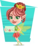 Cute Fairy Vector Cartoon Character AKA Frida the Flower Fairy - Shape 7