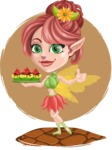 Cute Fairy Vector Cartoon Character AKA Frida the Flower Fairy - Shape 10