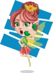 Cute Fairy Vector Cartoon Character AKA Frida the Flower Fairy - Shape 11
