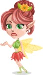 Cute Fairy Vector Cartoon Character AKA Frida the Flower Fairy - Sorry