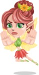 Cute Fairy Vector Cartoon Character AKA Frida the Flower Fairy - Stop 2