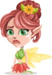 Cute Fairy Vector Cartoon Character AKA Frida the Flower Fairy - Sad