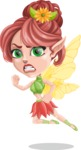 Cute Fairy Vector Cartoon Character AKA Frida the Flower Fairy - Angry