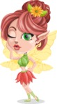 Cute Fairy Vector Cartoon Character AKA Frida the Flower Fairy - Duckface